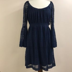 Boston Proper NWT navy crochet dress 16 dress
